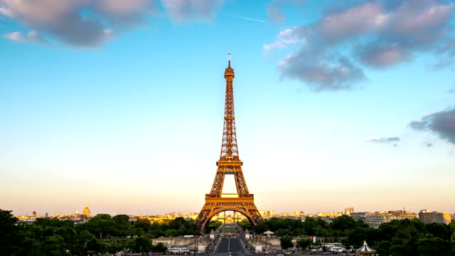 HD Timelapse: Eiffel Tower Paris, France video