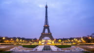 4K Timelapse: Eiffel Tower Paris sunrise from Trocadero video