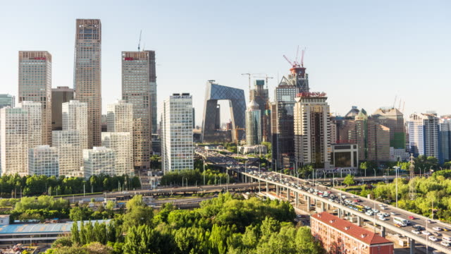 Timelapse - Elevated View of Beijing Skyline video