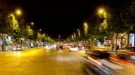 HD Timelapse: Elysees Paris city, France video