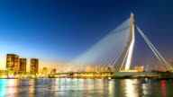 HD time-lapse: Erasmus bridge Rotterdam, Netherlands video