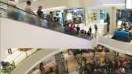 HD Time-lapse: Escalators in Bangkok Thailand Shopping Mall video