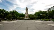 HD Timelapse: Espana Plaza Park at Gran Via Madrid Spain video