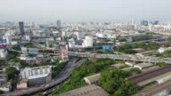 4K Time-lapse: Expressway and Highway aerial view in Bangkok Thailand video