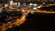 4K Time-lapse: Expressway and Highway at night in Bangkok Thailand video