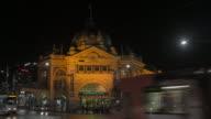 timelapse Flinders Street Station, Melbourne, Australia video