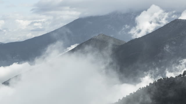Time-lapse Fog and Clouds On Mountains video