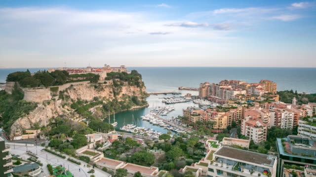 Time-lapse: Fontvieille and Rock of Monaco French Riviera video