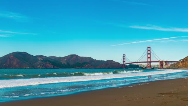 Time-lapse for Golden Gate Bridge by Baker Beach, San Francisco video