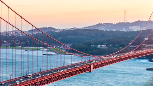 Time-lapse for Sunset at Golden Gate Bridge, San Francisco video