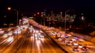 SEATTLE  time-lapse freeway traffic video