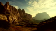 Timelapse from Passo Gardena on the Dolomites video