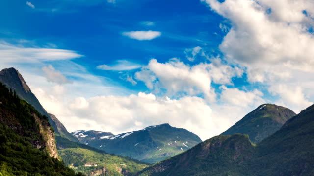 Timelapse Geiranger fjord Norway video