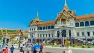 4K Timelapse - Grand palace castle in bangkok thailand video