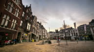 time-lapse: Hague Downtown Netherlands night video