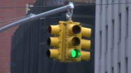 Time-lapse Hanging traffic lights video