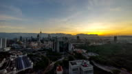 timelapse HD footage of a beautiful sunrise of Kuala Lumpur city video