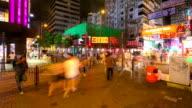 Time-lapse HD: Pedestrians at Tsim Sha Tsui Hong Kong video