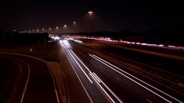 Timelapse Highway Lanes. video