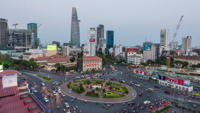 4K time-lapse : Ho Chi Minh City view at night video