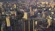 Time-lapse Hong Kong city view from top twilight moment time video