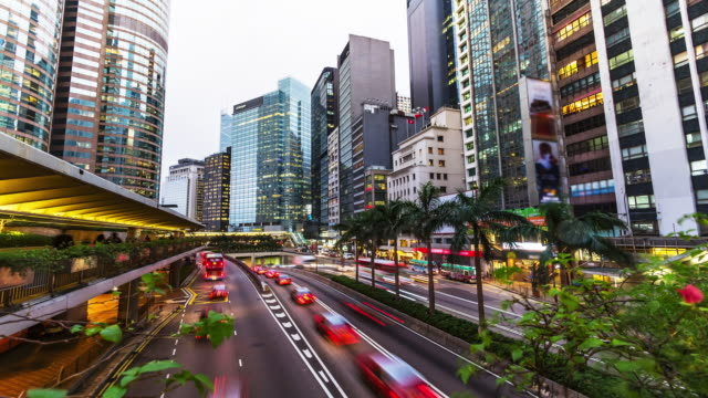 4K Time-lapse. Hong Kong Rush Hour. video