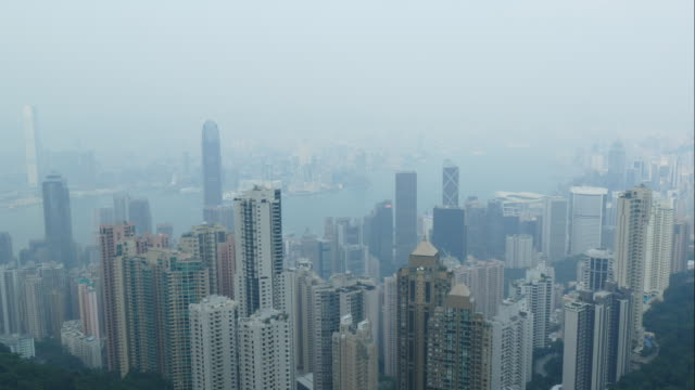 time-lapse Hong Kong skyline video