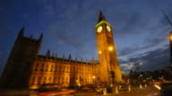 Time-lapse Houses of Parliament and Big Ben HD1080 video