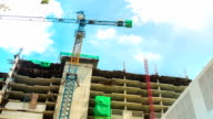 HD Timelapse Hyperlapse: Working in Construction Site video