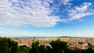 Timelapse in City of Barcelona from above on a sunny summer day in Full HD quality video
