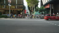 Timelapse in orchard road at singapore video