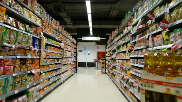 time-lapse in supermarket video