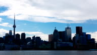 Timelapse in Toronto, Canada with heavy clouds video