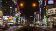 4K Timelapse : Kabukicho crossing in Shinjuku / Tokyo, Japan video
