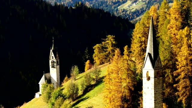 Timelapse La Valle commune in Dolomites alps, Italy video