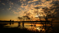 Time-lapse: Lake Scenic Landscape at Sunrise video