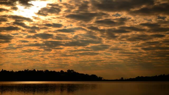 Time-lapse: Lake Scenic Landscape at Sunrise video