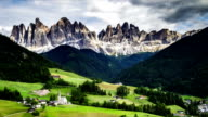 Time-lapse landscape of dolomites mountain video
