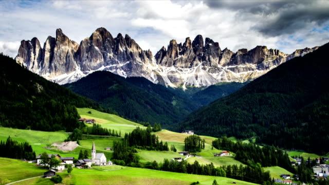 Time-lapse landscape of dolomites mountain video