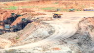 Timelapse Large Truck loading Coal mine video