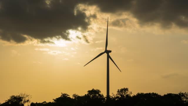 4K Timelapse: Large wind turbine. video