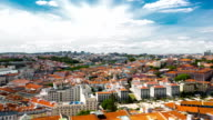HD Time-lapse: Lisbon aerial view Portugal video