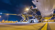 Time-lapse: Loading cargo aircraft video