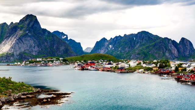 Timelapse Lofoten archipelago islands video