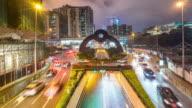 Time-lapse: Macau Skyline Cityscape main street at night video