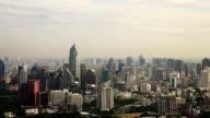 Timelapse : Modern city view of Bangkok Cityscape video