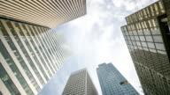 4K Time-lapse: Modern Office Background Paris Cityscape France video