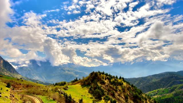 'TimeLapse': Mountain Cloudy Blue Sky video