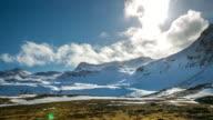 4K Time-lapse: Mountain range Snaefellsnes Peninsula, waterfall landscape Iceland video