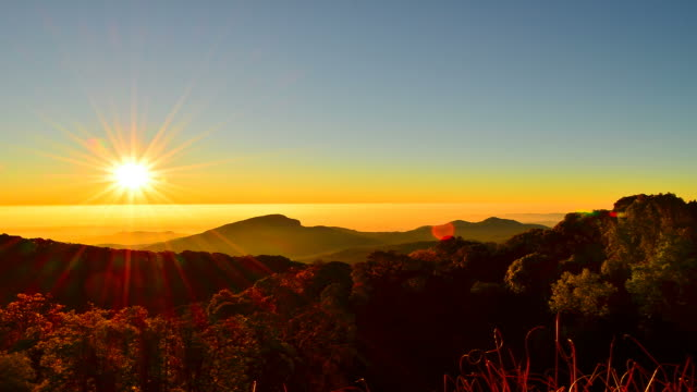 Time-lapse: Mountain Scenic Landscape at Sunrise video